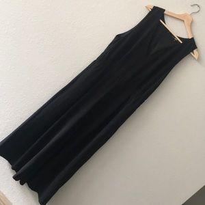 Uniqlo black wide leg jumpsuit